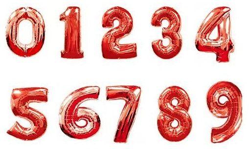 Цифры красные