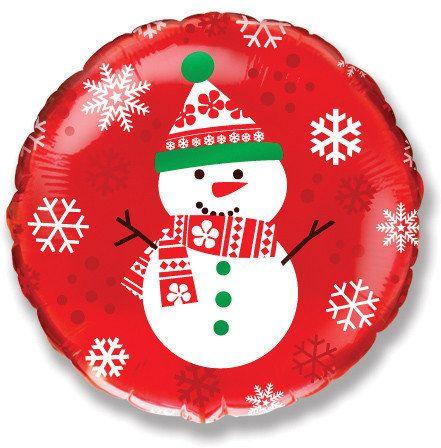 Снеговик #2 шарик с гелием
