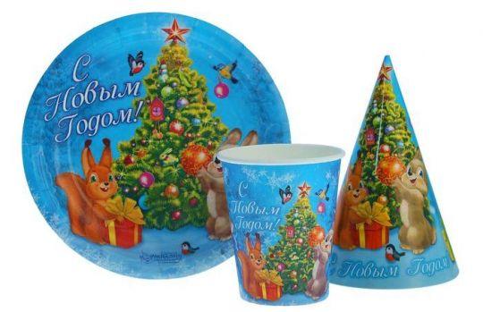 Набор новогодней посуды №3