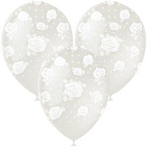 Прозрачный с розами #2 латексные шары с гелием
