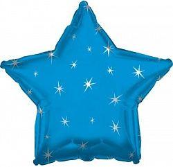 Звезда с искорками синяя