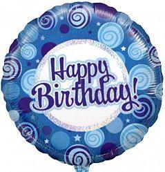 Синие кружки С днем рождения